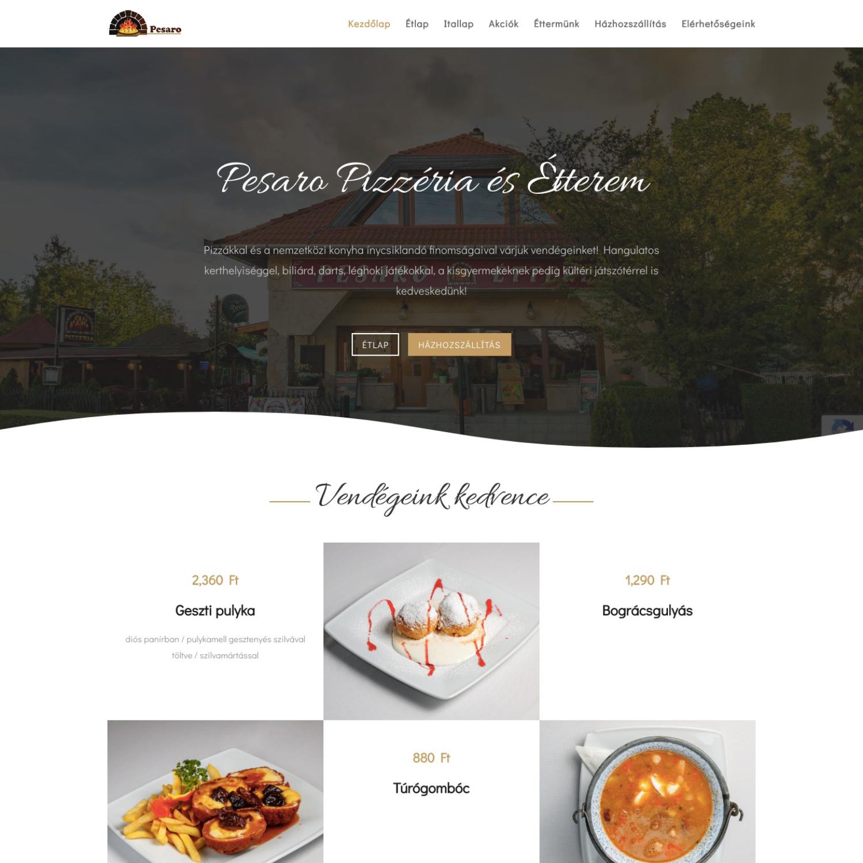 Pesaro Pizzéria és Étterem - FutureManagement - Weboldal készítés