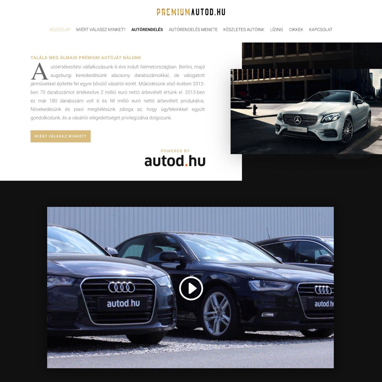 Prémiumautód.hu - FutureManagement - Weboldal készítés