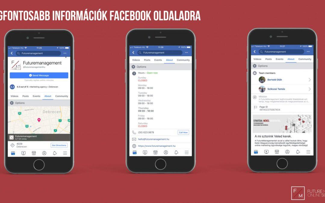3. rész: Így épül fel teljesen egy Facebook oldal
